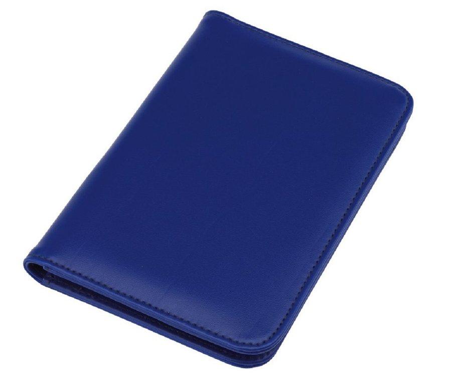 Mini portfolio met notitieblok en rekenmachine - blauw