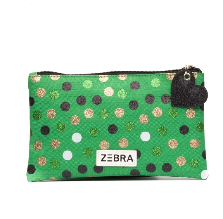 Zebra Trends pencilcase of toilettas wild dots glitter green