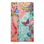 Melli Mello - Flowers turquoise multi - Strandlaken - badlaken- handdoek - 90x180 cm