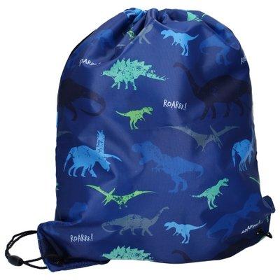 Gymtas Skooter PL Wild Friends dinosaurus blauw