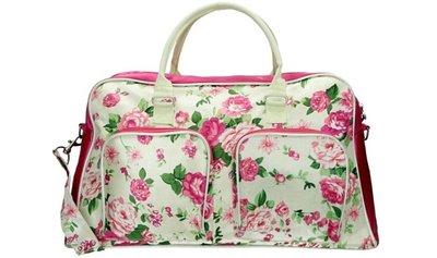 Run Away Roses Flowers Weekend Tas Hand & Schoudertas