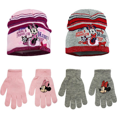 Minnie Mouse muts met handschoenen set