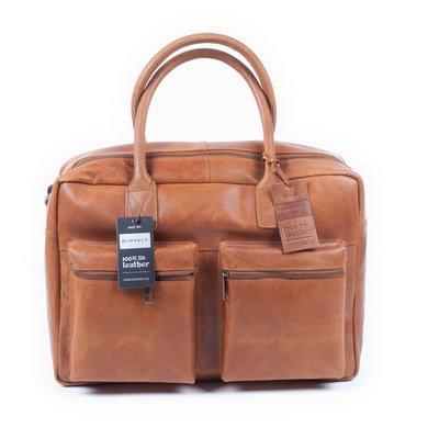 Burkely rundlederen Vintage Businessbag 15 inch cognac