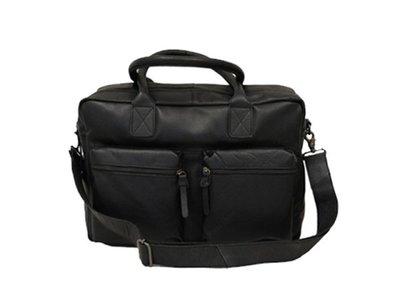 Bloomsbury rundlederen Vintage Businessbag 15 inch zwart