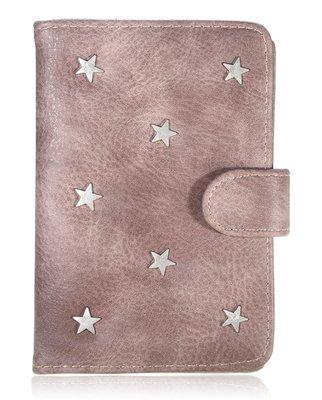 Paspoorthoesje Stars bruin