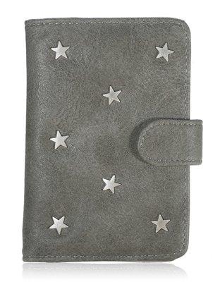 Paspoorthoesje Stars grijs