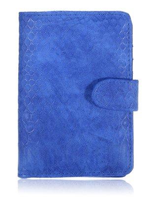 Paspoorthoesje Croco blauw