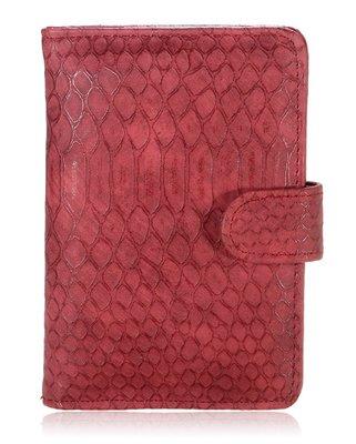 Paspoorthoesje Croco rood