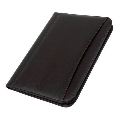 A4 portfolio schrijfmap  met rits en rekenmachine zwart
