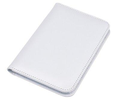 Mini portfolio met notitieblok en rekenmachine - wit