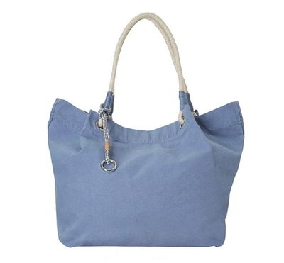 EDC by Esprit shopper/strandtas blauw
