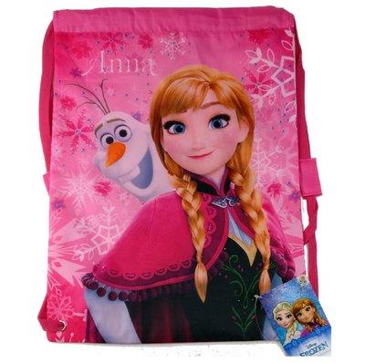 Disney Frozen - trekkoordtas - gymtas - zwemtas - roze - 43 x 32.5 cm