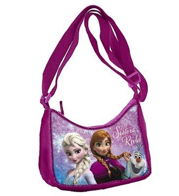 Disney Frozen - schoudertas - glitters - roze - verstelbare schouderriem - 18x9x13 cm