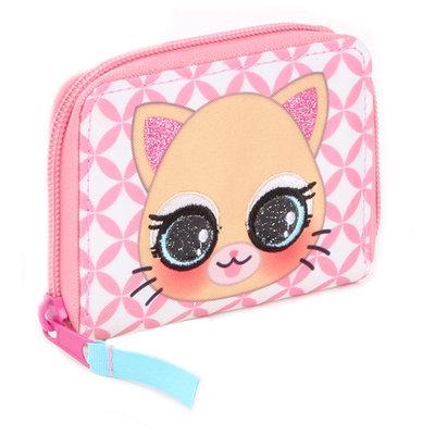 Lulupop & the Cutiepies - cat - portemonnee - kinderen - 11x8x2 cm