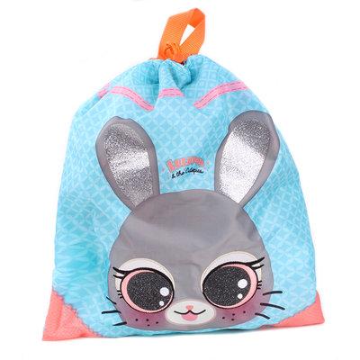 Lulupop & the Cutiepies bunny gymtas/sporttas/zwemtas 44x37cm