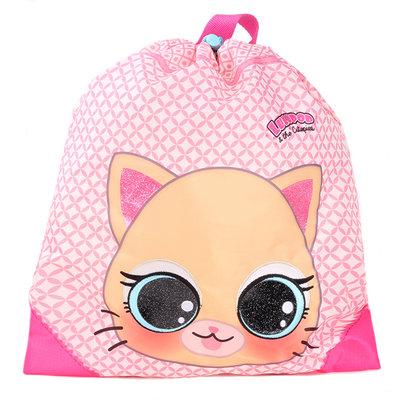 Lulupop & the Cutiepies cat gymtas/sporttas/zwemtas 44x37cm