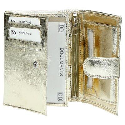 Double-D - dames portemonnee- echt leer - goud