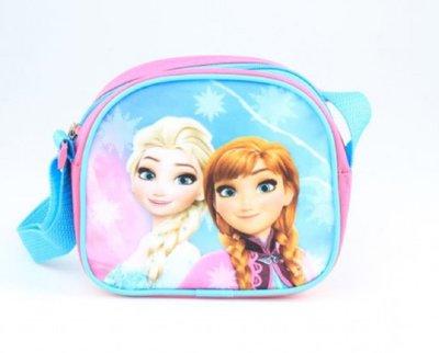 Disney Frozen schoudertas roze/blauw glitters