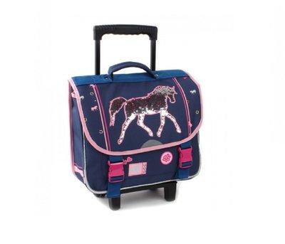 Milky Kiss The Winner trolley school Rugzak Unisex - Blauw - Met paard uitgevoerd in pailletten