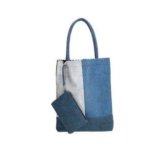 Beagles Shopper met uitneembare etui blauw