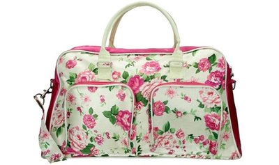 Run Away Roses Flowers Weekend Tas Hand & Schoudertas