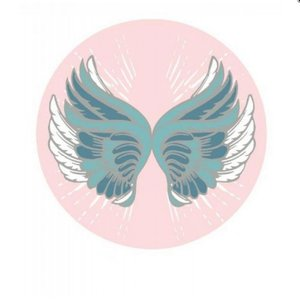 Strandlaken - rond - BOHO - wings - vleugels - ø 150cm