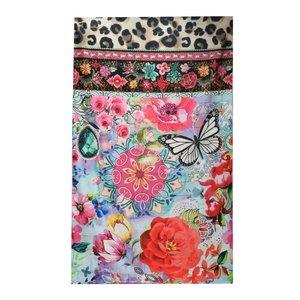 Melli Mello - Flower & Leopard - Strandlaken - badlaken- handdoek - 90x180 cm