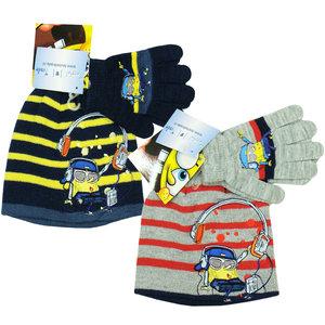 Spongebob muts en handschoenen set