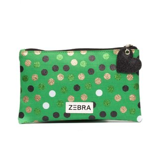 Zebra Trends pencilcase of toilettas wild dots glitter green
